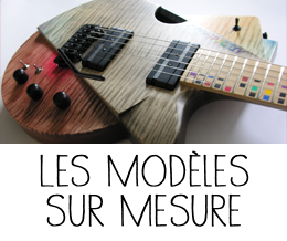 Les guitares sur mesure réalisées par Julien Gendre